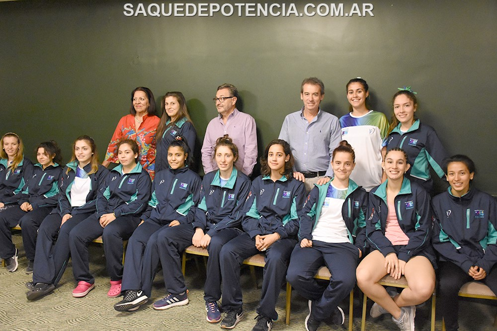 Juegos Araucanía: Presentaron el equipo femenino de Chubut
