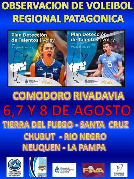 Observación de jugadores en Comodoro Rivadavia