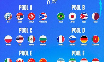 Los rivales de Argentina en el Campeonato Mundial Masculino 2022